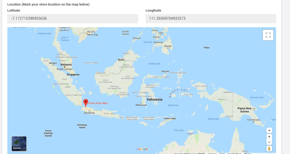 Geographic Data di iREAP POS PRO
