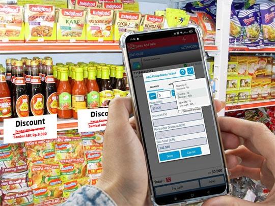 Aplikasi Kasir iREAP POS Pro Mendukung Pemberian Kuantitas Diskon
