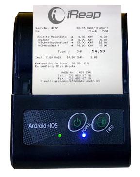 Print Receipt from Mini Printer Bluetooth BellaV Z58
