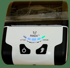 Nyalakan mesin printer bluetooth Panda PRJ-R80B