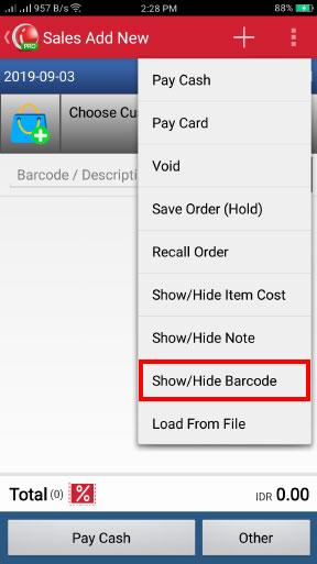 Barcode Scanner Menu Untuk Transaksi Penjualan Pada Aplikasi iREAP POS