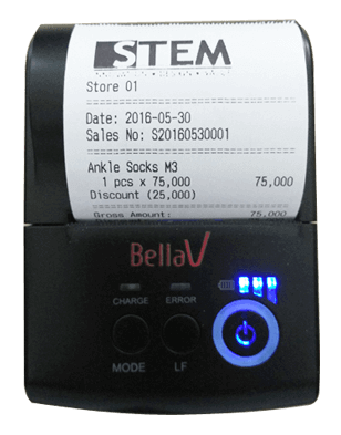 Print Receipt with logo in Printer Bellav EP-58A and EasyPal EP-58A
