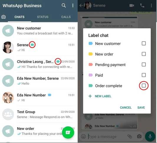 cara membuat label di whatsapp bisnis