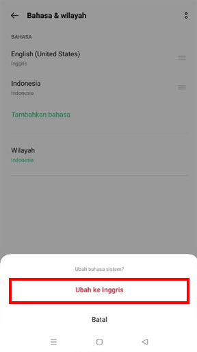 Change language on Mobile Cashier iREAP