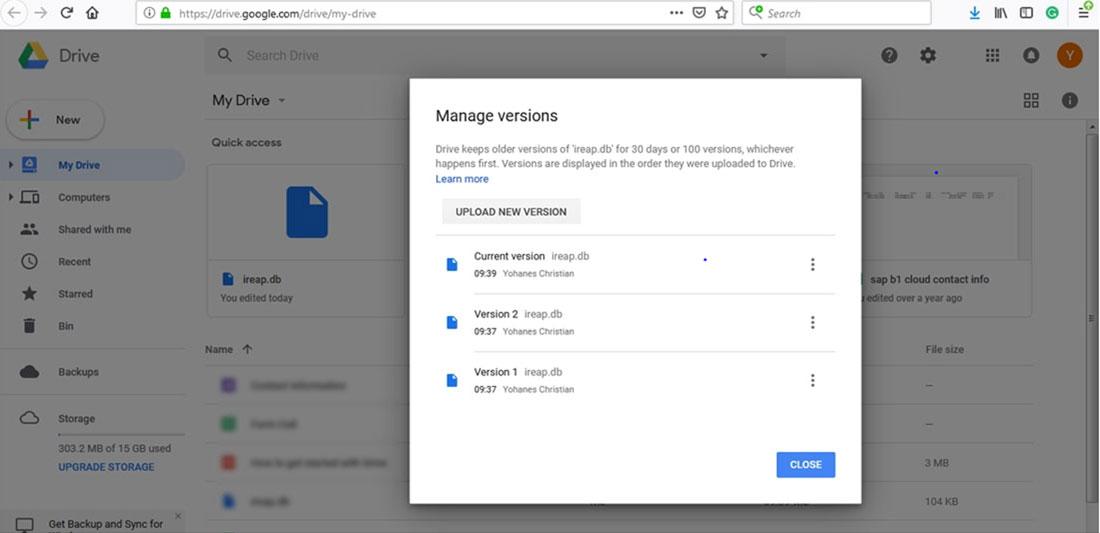 Check backup data aplikasi kasir iREAP POS LITE telah masuk ke akun google drive anda