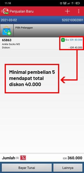 Check Minimum Discount Quantity Pada Transaksi Penjualan Aplikasi Kasir iREAP POS PRO