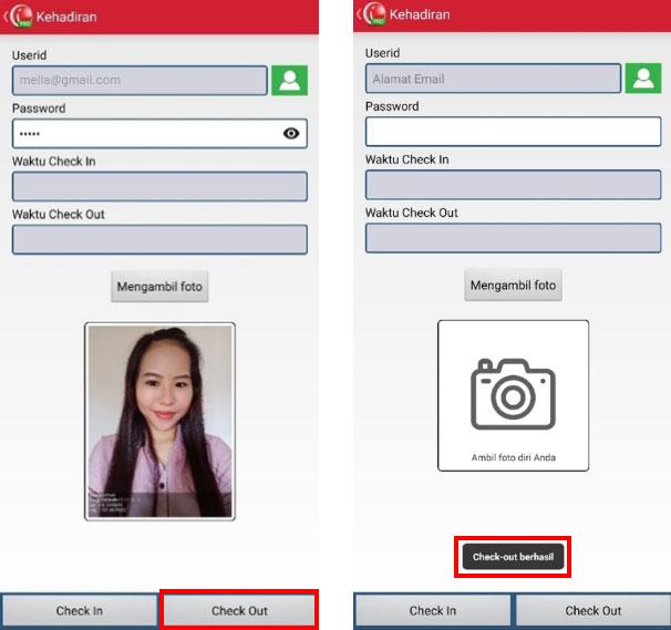 Step 7 Pilih Check out untuk absensi keluar pada aplikasi kasir iREAP POS PRO
