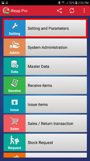 Step 2 print receipt with logo in mobile cashier iREAP POS