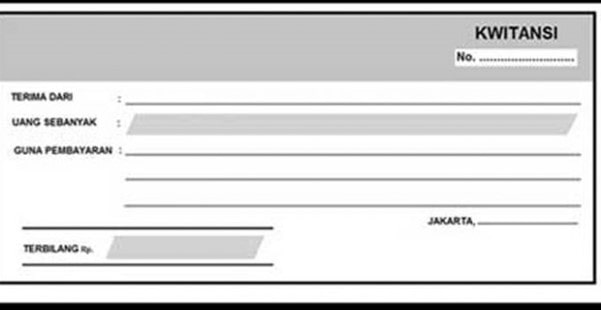 Sample Payment Receipt form