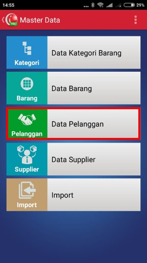 Menu Data Pelanggan iREAP POS PRO