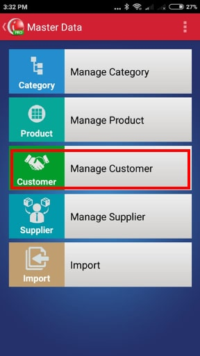 Manage Customer Menu iREAP POS PRO (Via Mobile)