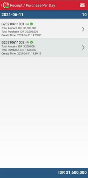 Detail Daily Receipt/Purchase Reports in iREAP POS PRO Via Mobile