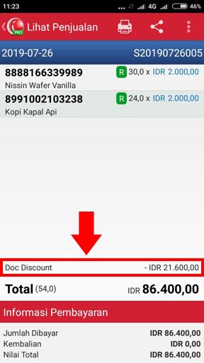 Rincian Transaksi Penjualan di iREAP POS PRO