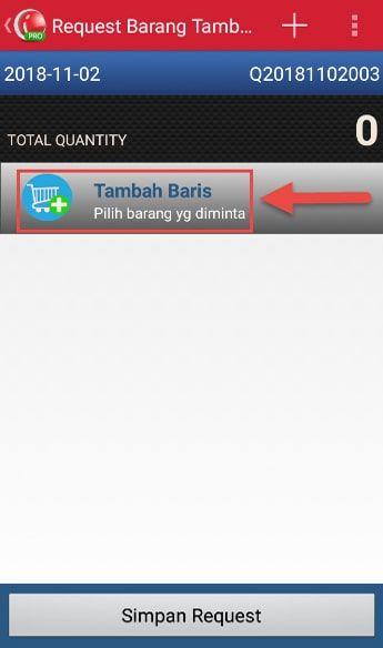 Make Stock Request Transaction step 4 - Add Item iREAP POS