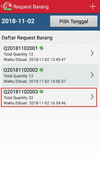 iREAP POS List of Stock Request