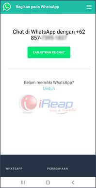 image chat whatsapp tanpa simpan nomor kontak 2