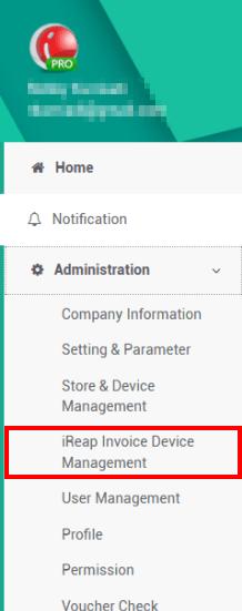Select menu Administration, Device Management