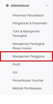 Management Pengguna - iREAP Invoice