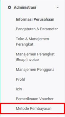 Metode Pembayaran- iREAP Invoice