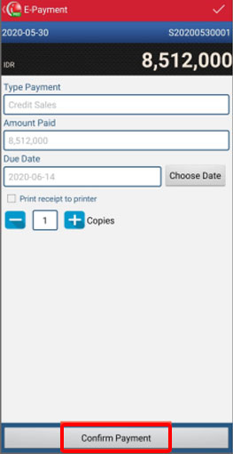 Select Confirm Payment if you want to finish it