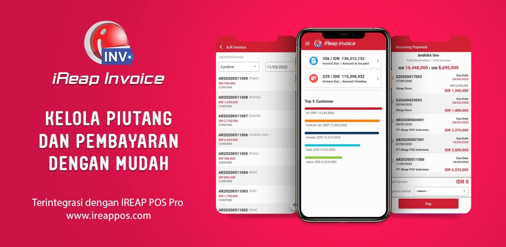 iREAP Invoice Kelola Piutang dan Pembayaran Dengan Mudah