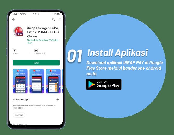 Langkah Pertama Bergabung ke iREAP PAY - Download Aplikasi PPOB iREAP PAY di Google Playstore - Peluang Usaha Loket Resmi Pembayaran Online