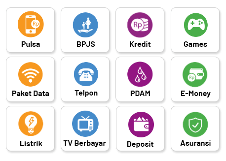 Berbagai Macam Transaksi Pembayaran Payment Point Online Bank ( PPOB ) di iREAP PAY - PDAM, Listrik (PLN), Telpon, Pulsa, BPJS, Games, E money, Asuransi, Kredit Motor, TV Berlangganan