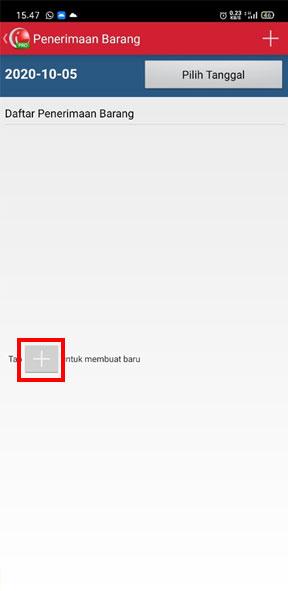 Klik buat baru pada aplikasi iREAP Pos Pro untuk load stock list penerimaan barang baru