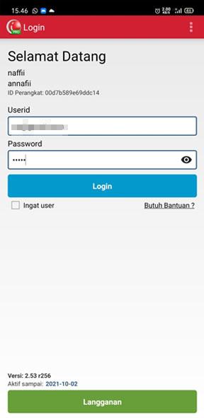 login aplikasi iREAP Pos Pro untuk load stock list penerimaan barang baru