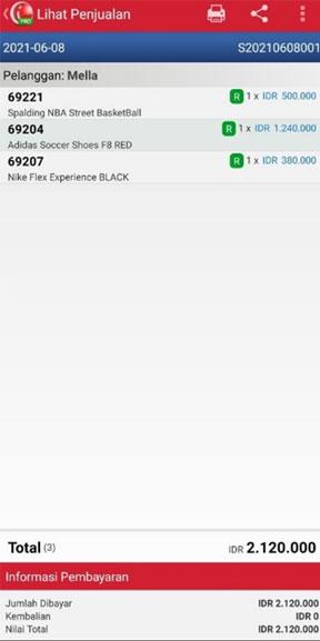 Lihat Penjualan pada Laporan Keuntungan di iREAP POS PRO Via Mobile