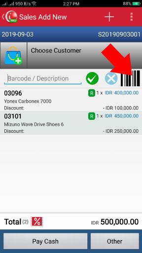 Menggunakan Barcode Scanner Untuk Transaksi Penjualan Pada Aplikasi Kasir iREAP POS