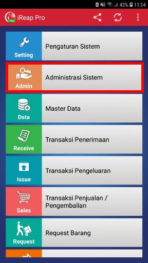 Step 3 Pilih menu Administrasi Sistem - Cara Reset Password Non-Administrator Pada Aplikasi kasir iREAP POS Pro