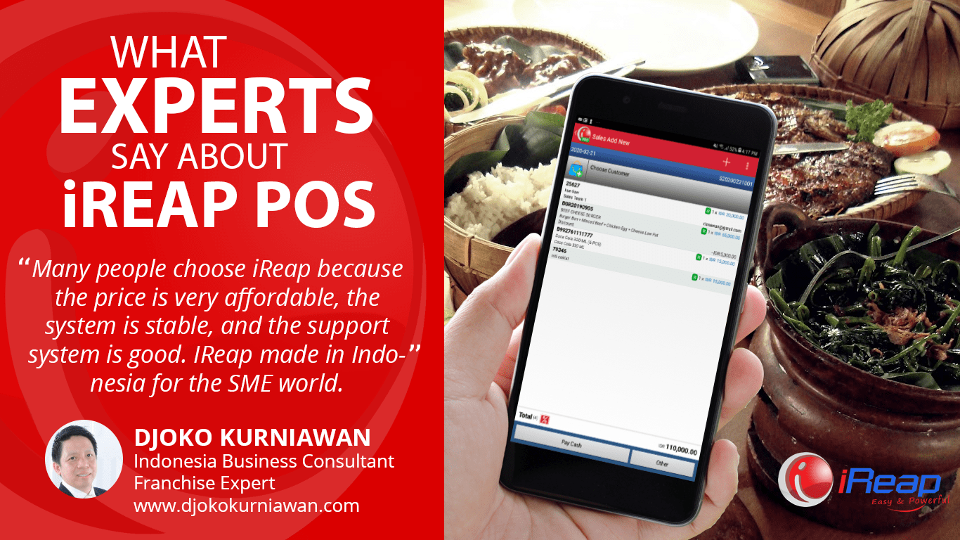Mobile Cashier Android iREAP POS Review from Djoko Kurniawan Indonesia Business Consultant Franchise Expert