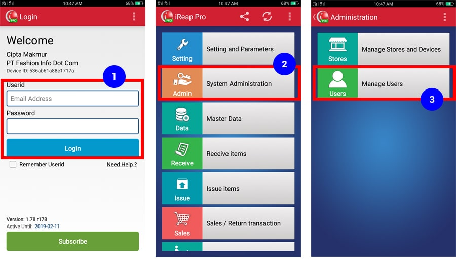 Menambah User / Pengguna Baru Dari Perangkat Dengan iREAP POS PRO