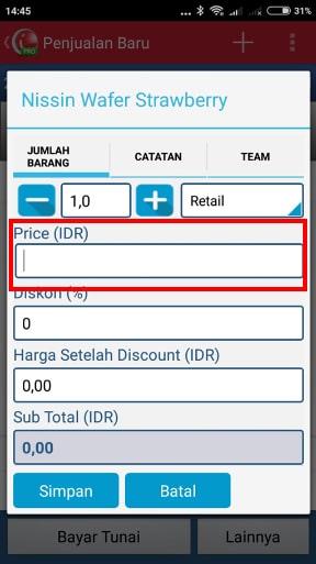 iREAP POS Pro Ubah Harga Ditransaksi Penjualan