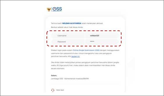 oss-hak-akses-username