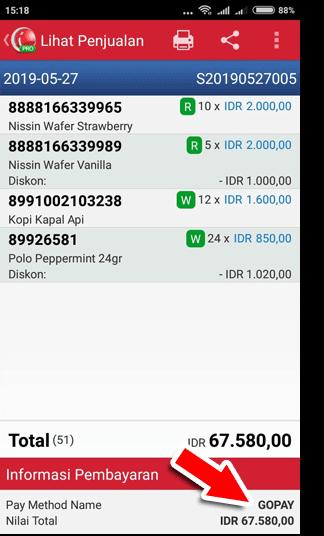 Metode Pembayaran Menggunakan Gopay di detik transaksi iREAP POS Pro