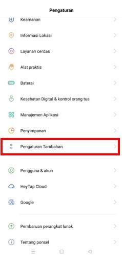 Klik Pengaturan Tambahan untuk ubah bahasa aplikasi kasir iREAP POS