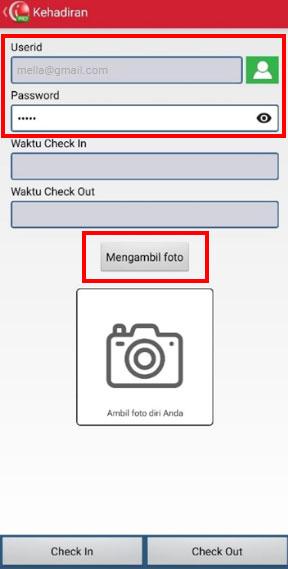 Step 5 Pilih userid/ nama karyawan yang hendak melakukan absen di aplikasi kasir mobile iREAP POS PRO