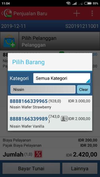 iREAP POS Mobile Daftar Harga Untuk Pelanggan
