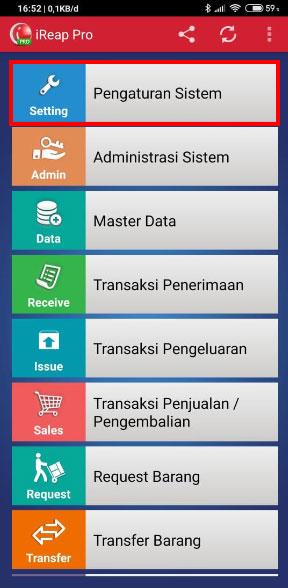 Pada halaman utama, pilih Pengaturan Sistem