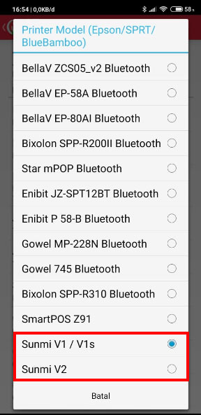 Select the printer model you want to select