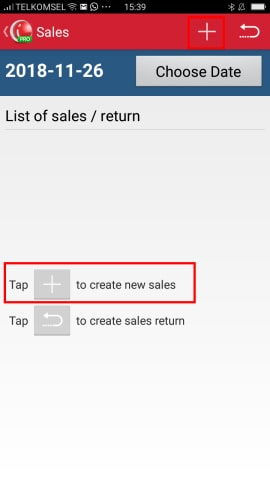 Create New Sales Transaction iREAP POS Pro