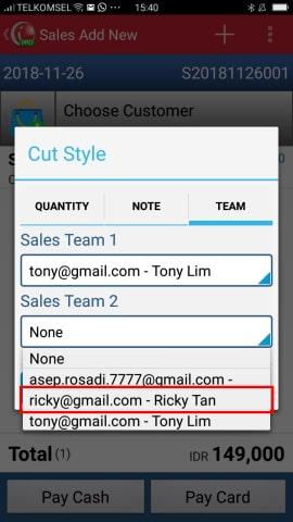 Sales Team 2 iREAP POS Pro
