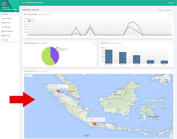 Geographic Location Report in iREAP POS PRO