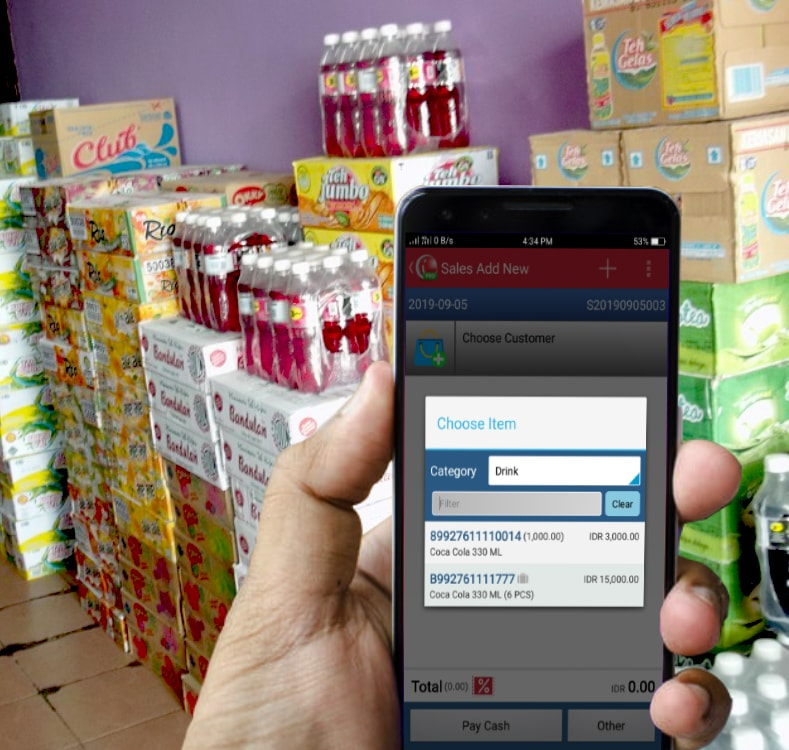 iReap POS Pro Mobile Cashier Android Application for retail