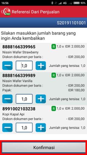 Langkah Membuat Transaksi Pengembalian di iREAP POS PRO - Masukan Jumlah Barang yang Ingin Dikembalikan