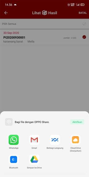 share export list barang aplikasi stockcount ke whatsapp email google drive