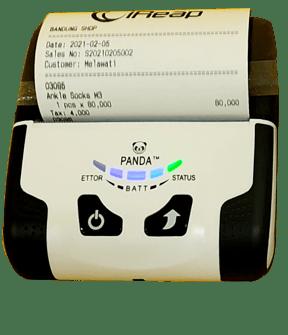 Print Receipt from Mini Printer Bluetooth Panda PRJ 58B