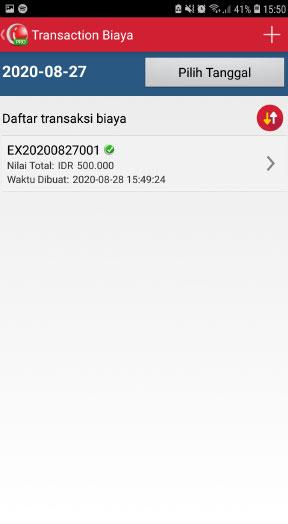 Transaksi biaya aplikasi mobile kasir android iREAP POS Pro